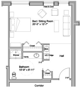 private deluxe floor plan assisted living at lookout ridge