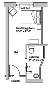 Care Centre Single Standard Room Layout