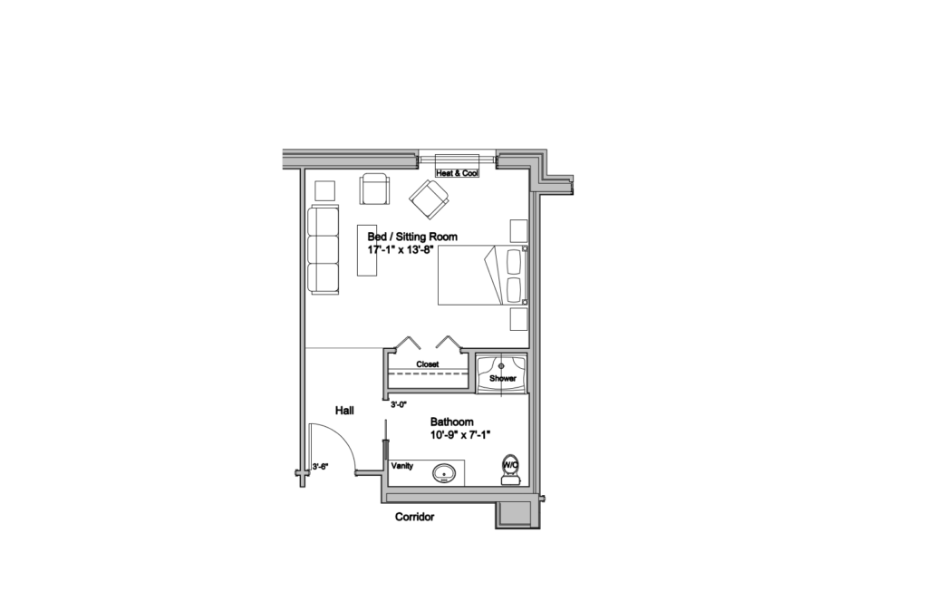 Care Centre Private Deluxe Layout